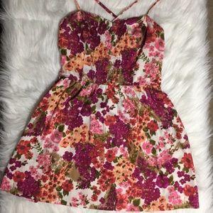 Women's I LOVE H81 Floral Dress w/ pockets Sz M